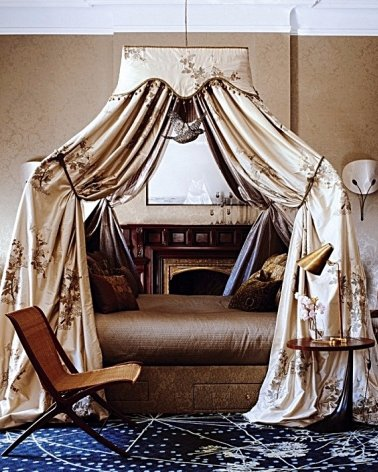 Have Drapes around the Bed to Cut out Light and Feel as if You're in a Sanctuary