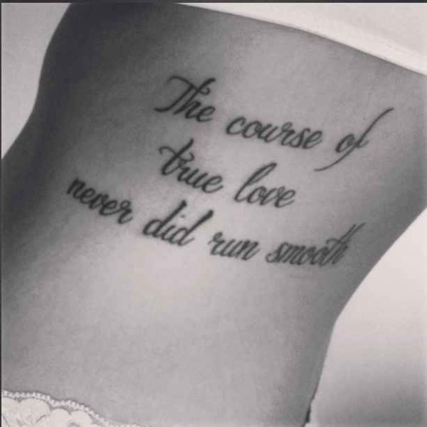 23 Epic Literary Love Tattoos: 15 Tattoo Quotes From Classic Literature For Your First