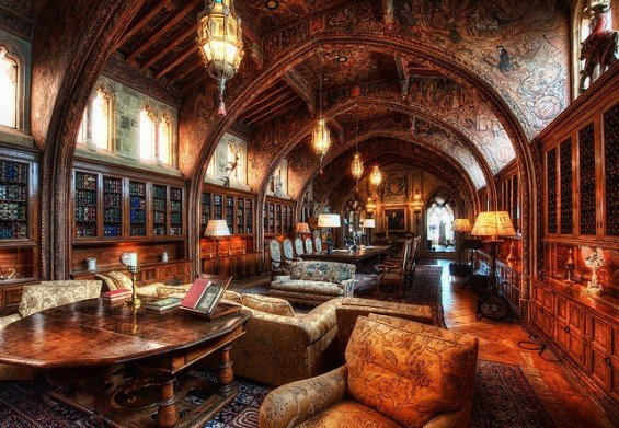 The Hearst Castle Library, California, USA