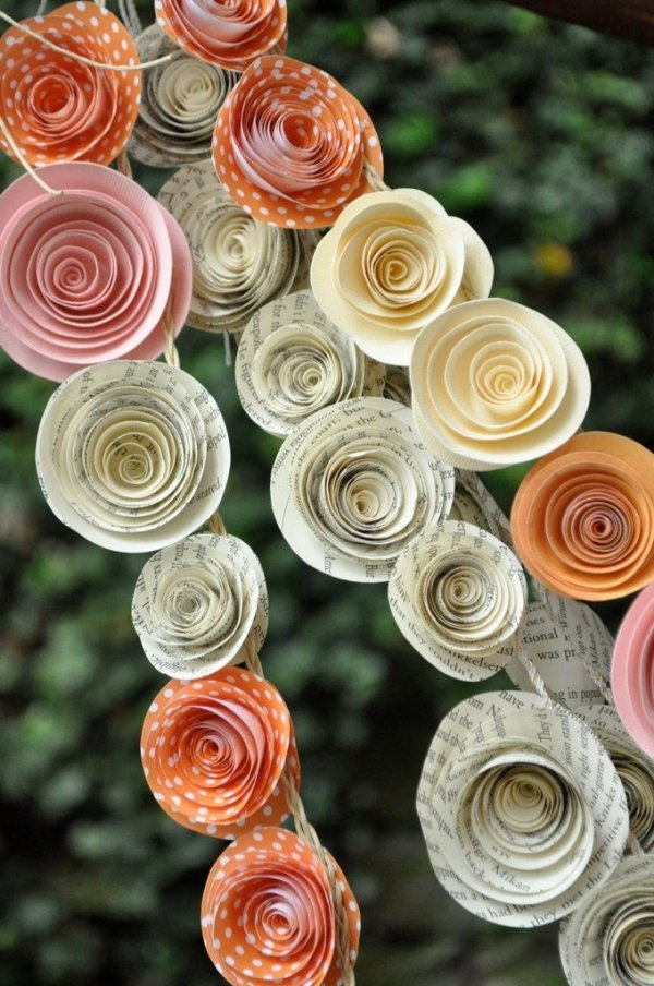 another paper flower banner