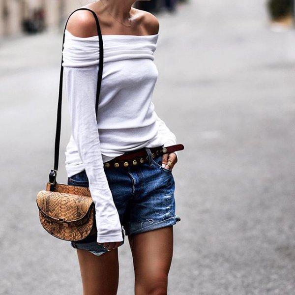 white, clothing, denim, footwear, spring,