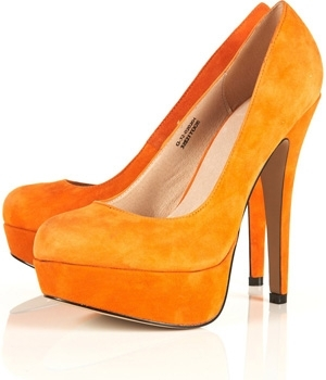 Sakura Orange Suede Platform Shoes - 9 Topshop Fabulous Finds ...…