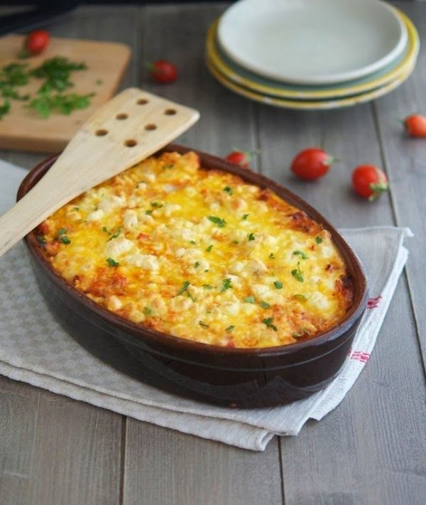 26. Roasted Cauliflower, Tomato and Goat Cheese Casserole - This is…