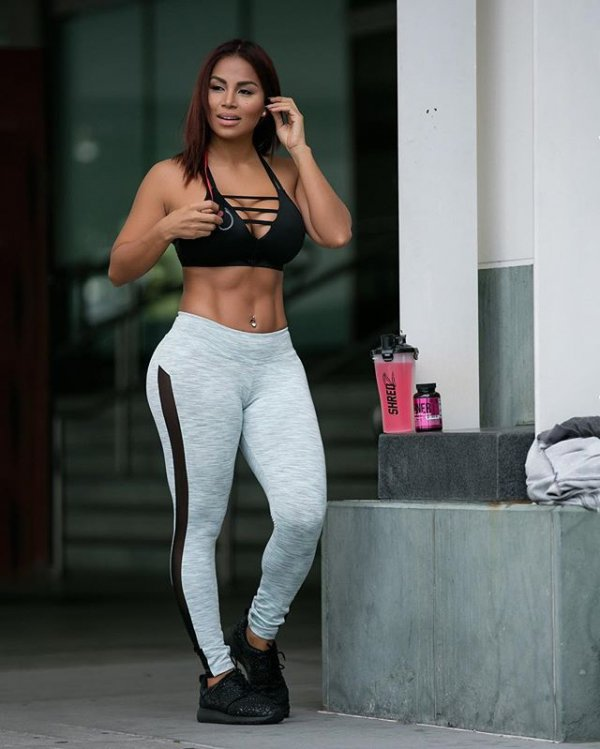 Physically fit asian girls