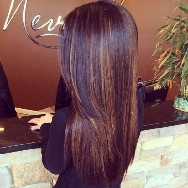 12. Dark Chocolate Hair Color with Subtle Highlights - 29 Hair…