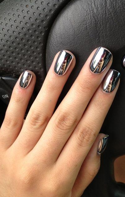 Awesome Mirror Metallic Nail Art
