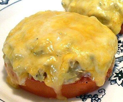Tuna Melts on Tomatoes