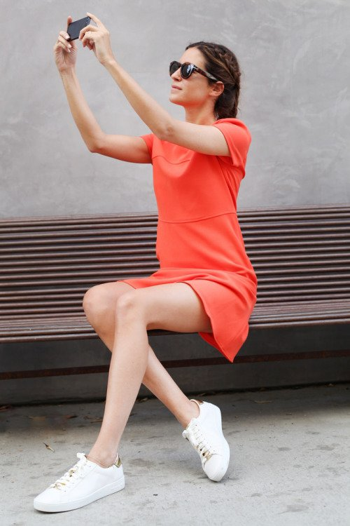 Tasty in Tangerine: Bright Dress