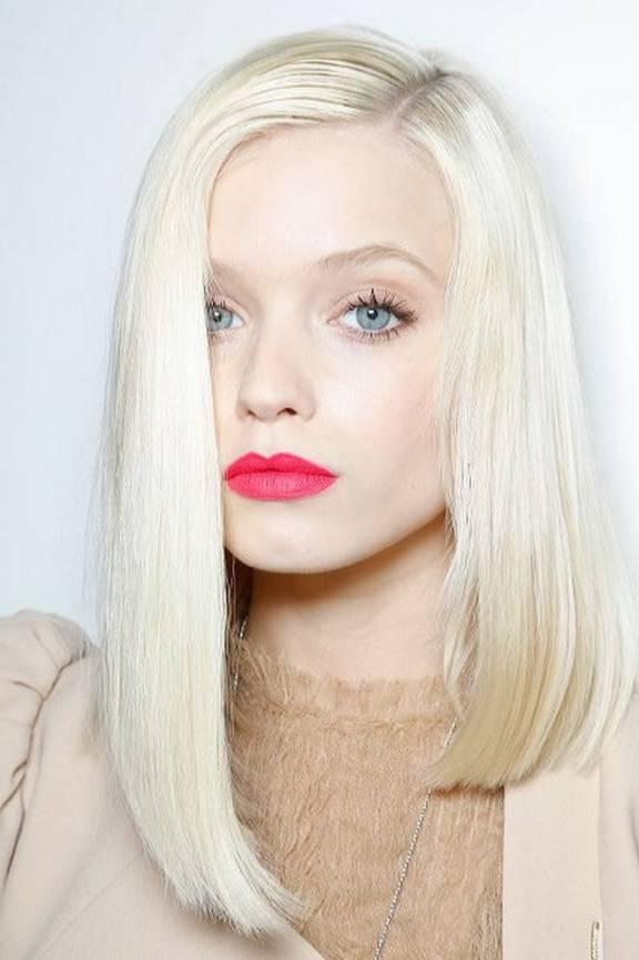 Асимметрия стрижки блонд