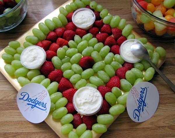 Baseball Diamond Shaped Fruit Platter