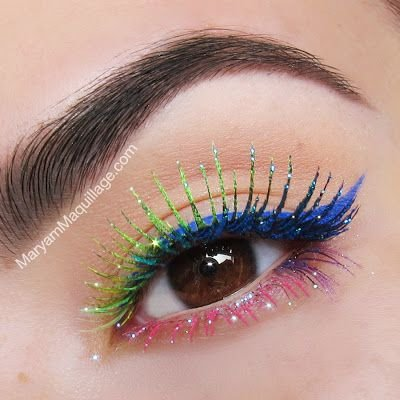 Glitter Rainbow Lashes