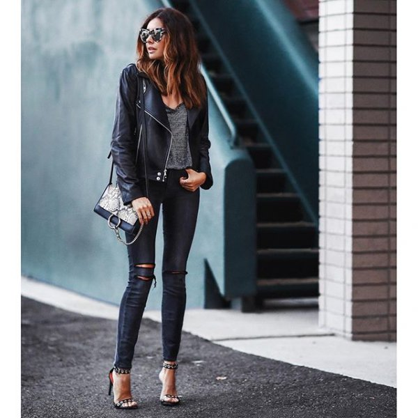 clothing, black, jeans, leather, footwear,