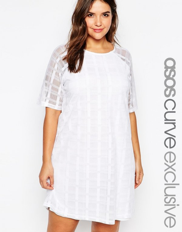 ASOS,white,clothing,day dress,sleeve,