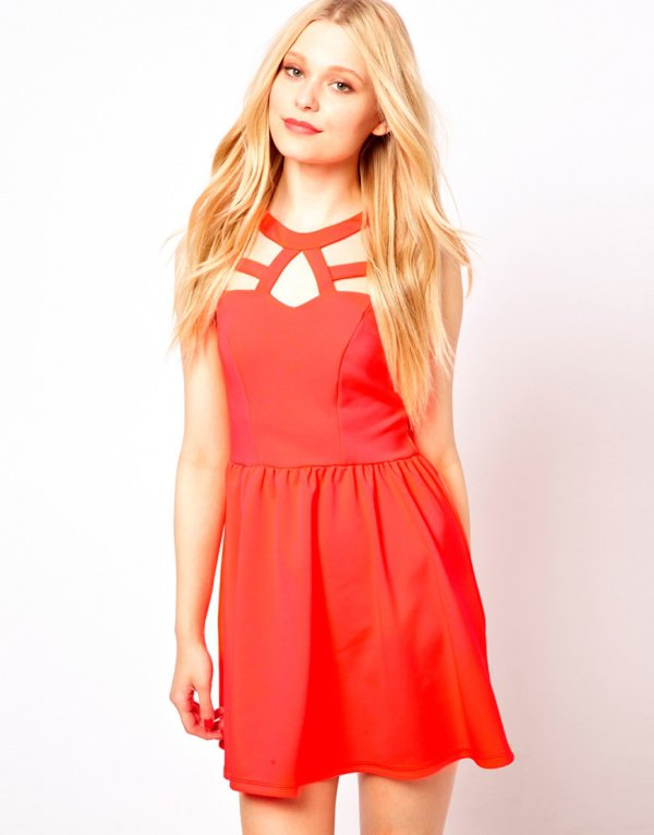 River Island Cutout Skater Dress