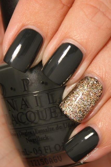 One Glittery Nail
