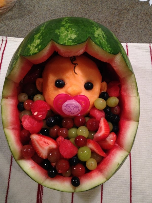 baby carriage 42 magnificent fruit creations for your next party