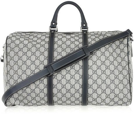 Gucci Speedy Leather-Trimmed Canvas Weekend Bag