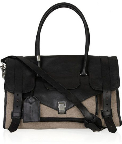 Proenza Schouler Medium PS1 Travel Leather and Felt Tote