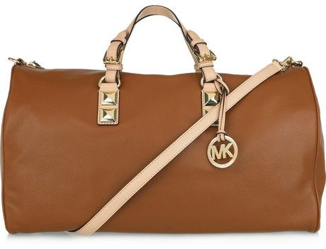 Michael Kors Leather Weekend Bag - 10 Fabulous Travel Bags ... …