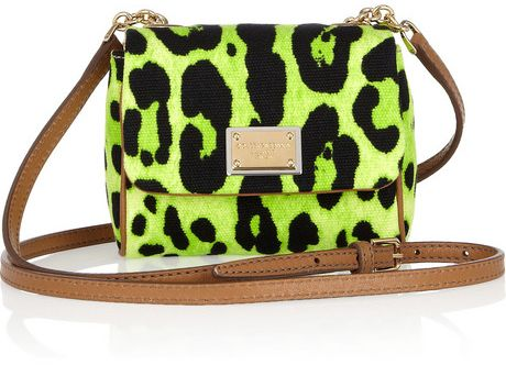 Dolce & Gabbana Printed Canvas & Leather Mini Shoulder Bag
