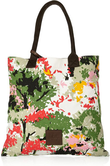 Milly Printed Canvas Tote - 8 Fresh and Fun Printed Handbags ... →…