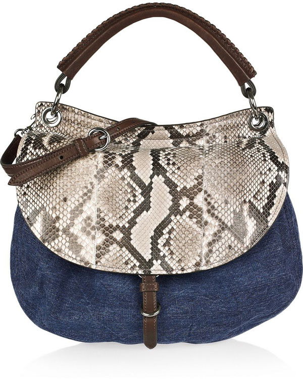 Denim Animal Print Bag