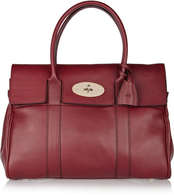 Textured Leather Oxblood Bag