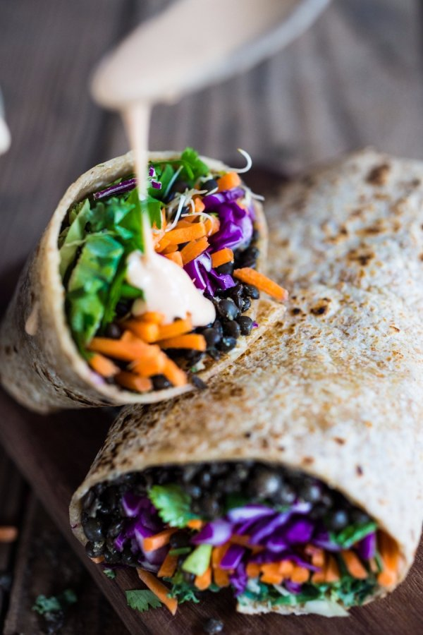 26. Spicy Lentil Wraps with Tahini Sauce - These Lentil Recipes Will ...