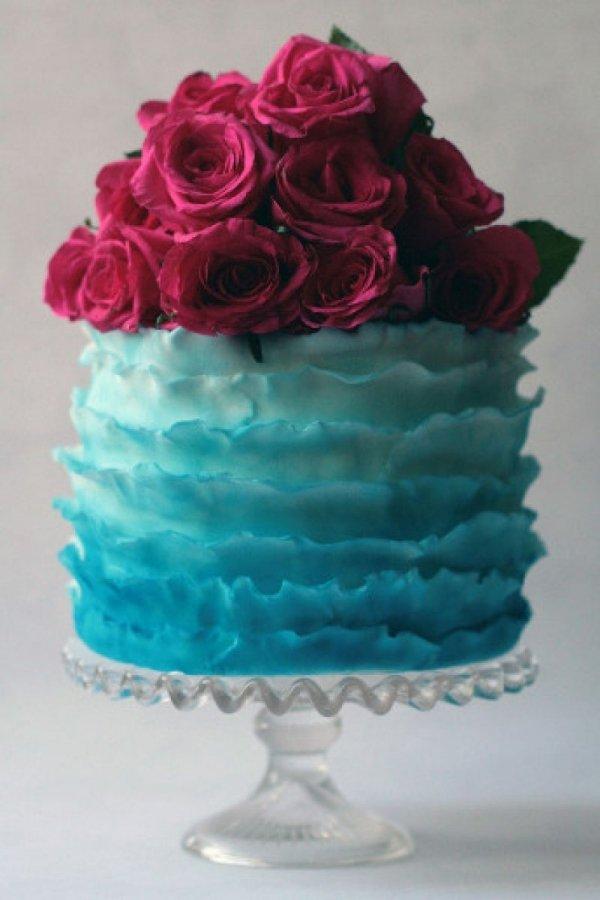 Cake Design Blue : Aqua and Magenta - 7 Gorgeous Wedding Color Schemes for ...