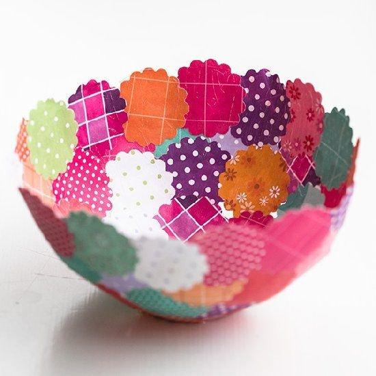 Scrapbook Paper Bowl