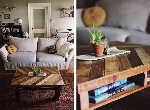 Pallet wood 7 ways to create your own coffee table for Create your own coffee table