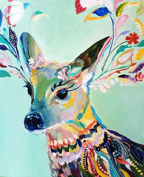 Fancy deer 31 paintings you can copy for your own house for Paintings to copy