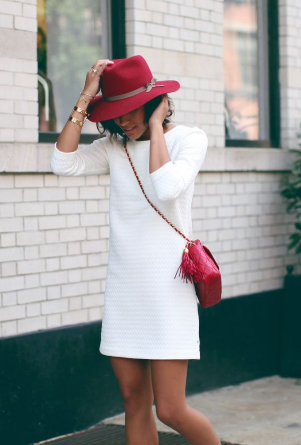 color,white,clothing,red,lady,