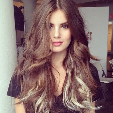 Her Loose Waves & Cool Color