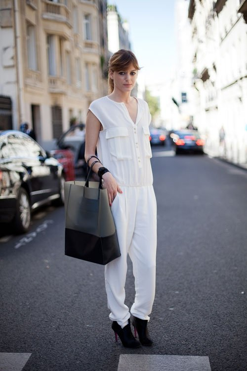 minimal monochrome 9 street style ways to wear jumpsuits. Black Bedroom Furniture Sets. Home Design Ideas