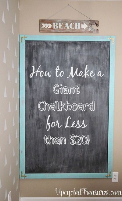 How to Make a Giant Chalkboard