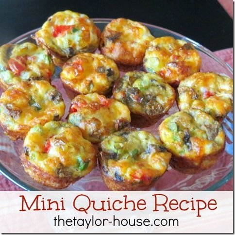 Mini Quiche Bites - 32 Mother's Day Brunch Recipes to Make Your…
