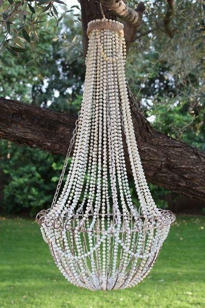Diy french beaded chandelier 34 diy chandeliers to light up diy french beaded chandelier aloadofball Gallery