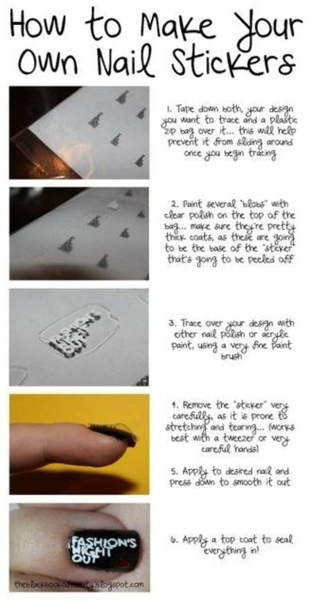 Make Your Own Nail Stickers