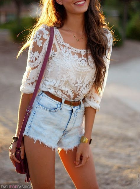 2. Vintage High Waisted Shorts - Outfit Ideas for Coachella 2015 ...u2026
