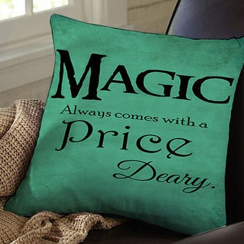 Diy Quote Throw Pillows : Once upon a Time Quote Pillow Case - Inspirational Home Decor:?