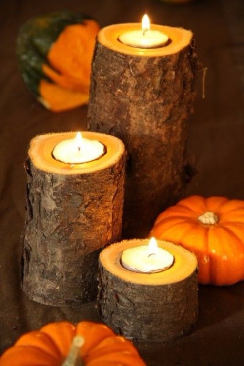 Fall/Thanksgiving Candle Holders