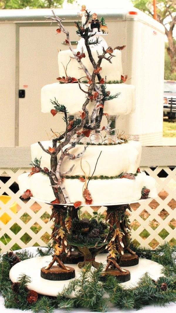 Say Yes To These Outdoor Themed Rustic Wedding Cakes