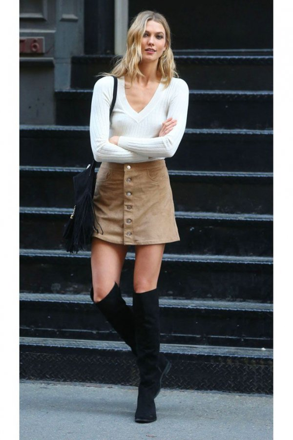 Suede Mini Skirt - Simple and Chic Mini Skirts Meant for Fall ...…
