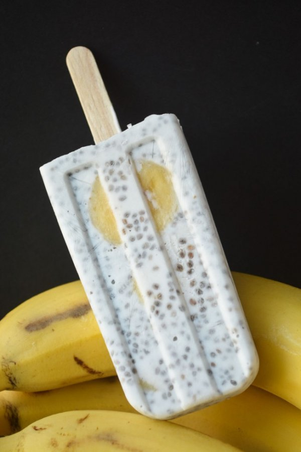 Chia Seed, Coconut, and Banana Pops