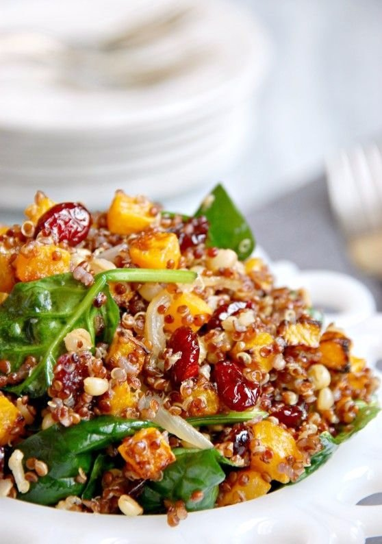Vegan Warm Roasted Butternut Squash and Quinoa Salad