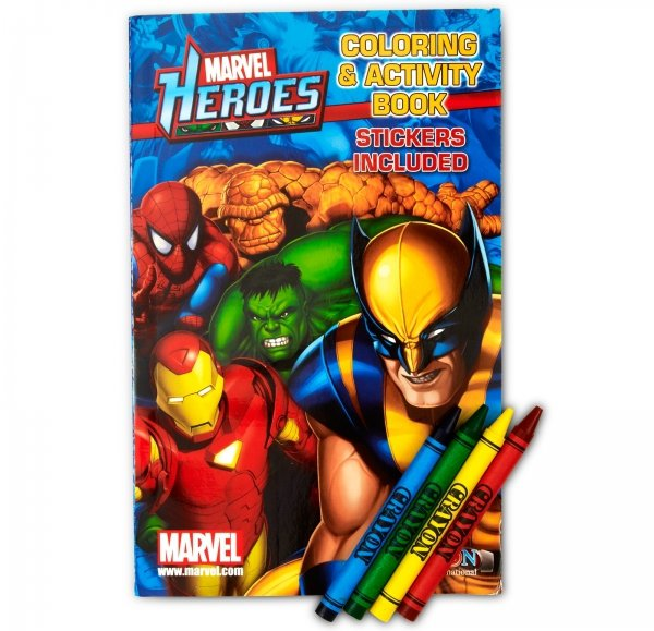 Coloring Books and Crayons