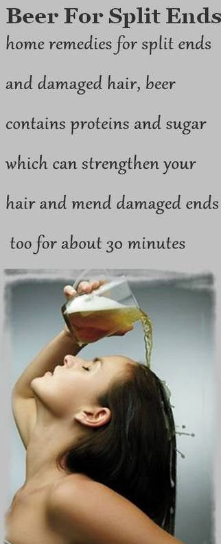 Beer Can Help Your Split Ends!