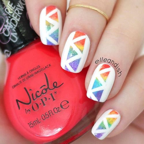 248 Creative Nail Art Designs For Girls Looking To Up: 33 Rainbow Nail Inspo Girls Who Love…