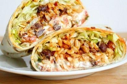 Spicy Bean and Rice Burritos